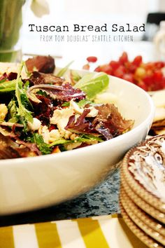 the perfect in-between meal for holiday guests: tuscan bread salad