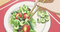 Anime salad.  --This would so be me. I loath celery with everything in me. ^^