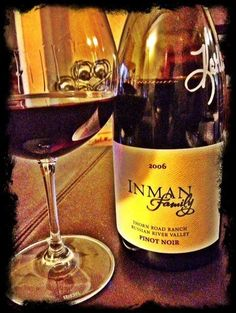@tomthewineguy shared @inmanfamilywines 2006 Pinot. Sipping at home