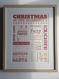 Personalised Christmas at the.... Typography by BabyCakesTreas