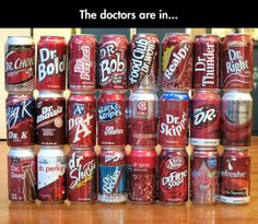The Doctors, All Together, excluding dr. pepper