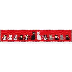Cats in Love Bracelet | Bead-Patterns