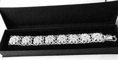 Srebrna bransoletka , filigranowa, wykonana ręcznie,srebro próba 0,925 . Silver bracelet, filigree , hand-made