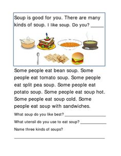 Soup Following Directions. Write In Each Box. 2 pages.Great Reading Journal Supplement for Reading Intervention, Reading Fluency Skills, Comprehension, Word Work, Vocabulary Activity.Please check out more fun fantastic bargains:https://www.teacherspayteachers.com/Store/Word-Masters