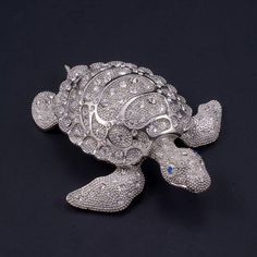 Seymore the Sea Turtle Paperweight Collectible Featuring Swarovski © Crystals