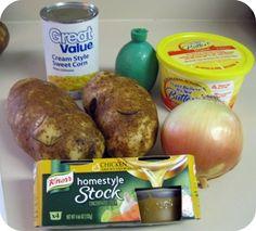 Ingredients for Southwestern Corn Chowder