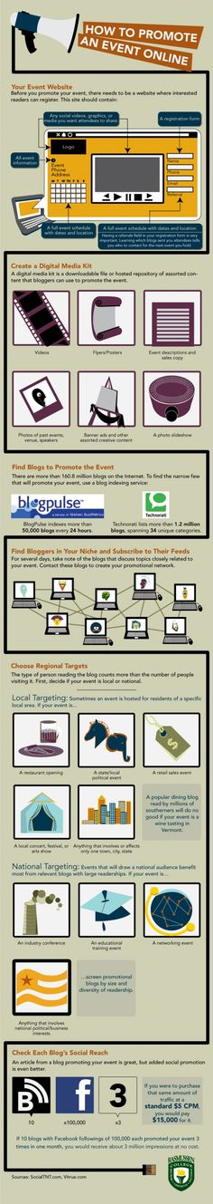 How To Promote an Event Online--Infographic