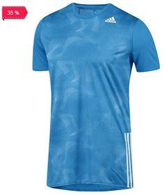 ¡Playera para correr AZ SS T M con 35% de Descuento en Adidas!