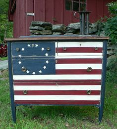 patriotic dresser Betsy Ross design