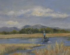 """Enjoying Each Moment"" This impressionistic-style oil painting was painted on-site at Buena Vista Lagoon, an ecological reserve in Oceanside, California."