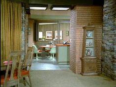 The Brady Bunch House, love the green/orange tulip table