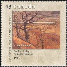 Canada Stamp 1995 - Group of Seven. Realism/Naturalism. Lionel L. Fitzgerald. Pembina Valley.