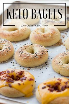 Easy grab and go breakfast bagel recipe! Perfect for low carb and ketogenic diets! You are going to love this easy recipe! This recipe is gluten free, vegetarian and THM friendly!