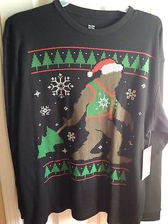 Funny Christmas Sasquatch In Bikini Sweater found in this list of ...