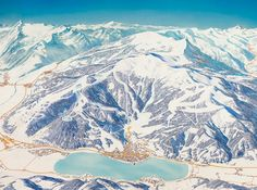 Zell am See by ski and hiking panorama artist (painter) Heinz Vielkind from Austria.