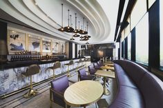 VOGUE Lounge Bangkok at the MahaNakhon CUBE, an upscale retail and restaurant hub in the heart of the Thai capital.