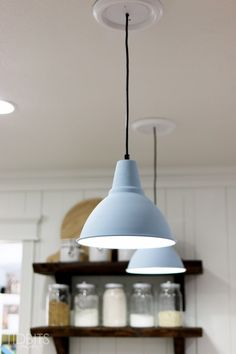 Make a bigger statement with your lights, by instantly upgrading a corded pendant light fixture - with a steel rod.