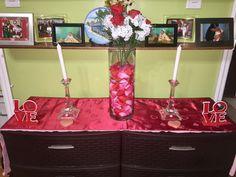 Living room center piece  #Valentinesdaydecor❤️🌹💐