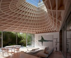 A copper roof culminating in a skylight draws daylight down into Gianni Botsford Architects House in a Garden a highly unusual dwelling accessed through a narrow passage alongside a Notting Hill villa. Notting Hill, Garden Architecture, Interior Architecture, Architecture Today, Unique Architecture, Interior Design, Timber Roof, Garden Pavilion, Facades