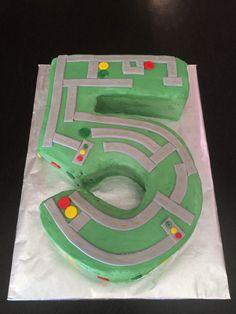 Maze birthday cake to match our invites.