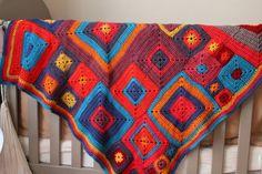Baby blanket. Babette blanket by Kathy Merrick. More on the blog.