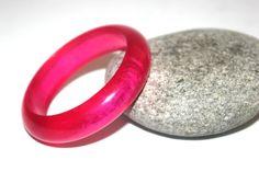 Heavy Pink Lucite Bangle, Vintage Bracelet, Moonglow, Plastics, Antique Alchemy on Etsy, $11.34 CAD