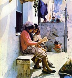A scene in the Bo-Kaap dating from 1965.