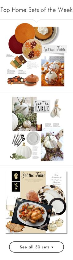 """""""Top Home Sets of the Week"""" by polyvore ❤ liked on Polyvore featuring interior, interiors, interior design, home, home decor, interior decorating, Homewear, Crate and Barrel, Caskata and Towle"""