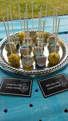 Transformers cake pops