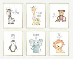 Watercolor Baby Animal Nursery Prints Jane Nursery Informations About Aquarell-Baby-Tierkindergarten druckt Jane Pin You can easily use Baby Bedroom, Baby Boy Rooms, Baby Boy Nurseries, Room Baby, Bedroom Art, Baby Room Ideas For Girls, Baby Girl Room Decor, Baby Boy Nursery Decor, Childs Bedroom