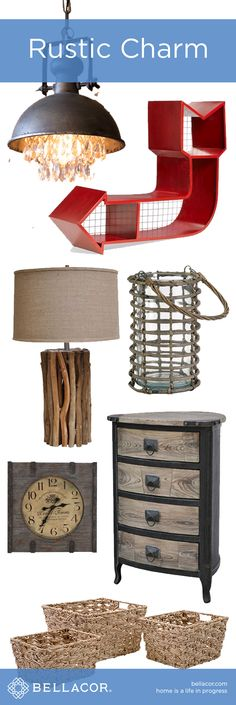Charming Rustic Accessories, Lighting & Furniture at http://www.bellacor.com/
