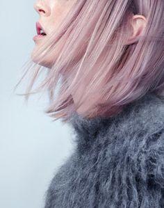 lavender + grey