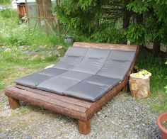 After building a big shed for firewood, there was a lot of left over lumber and also the need for relaxing the tired muscles!the idea for an outdoor lounge area w...
