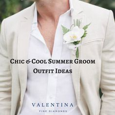Check out our top 7 ideas for stylish summer wedding groom outfits! Groom Outfit, Wedding Groom, Summer Tops, Infographics, Summer Wedding, Getting Married, Cool Stuff, Chic, Stylish