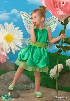 Child Tinker Bell; Disney Fairies sewing pattern 2872 Simplicity