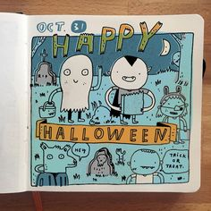 You probably didn't realize it, but today's Halloween and also the last day of #inktober2015 #sketchbook #moleskine