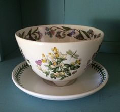 Portmeirion Botanic Garden FRUIT BOWL DRAINER With Underplate Made In Britain #Portmeirion