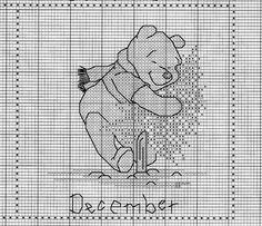 Schema punto croce Winnie-dicembre