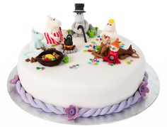 The muumins cake Tove Jansson, Disney Princess Cartoons, Book Cakes, How To Make Cake, Amazing Cakes, Tart, Cake Decorating, Birthdays, Birthday Cake