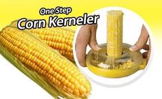 Dounut Shaped One Step Corn Kernel Peeler  Shop Now Here >> http://ealpha.com/search?controller=search&orderby=position&orderway=desc&search_query=THE+ONE-STEP+CORN+KERNELER+WITH+STAINLESS+STEEL+BLADES&utm_source=Ealpha&utm_medium=Promotion&utm_campaign=Corn