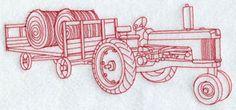 Redwork redwork, tractor