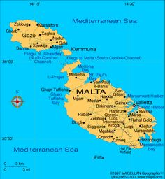 Malta Atlas: Maps and Online Resources | Infoplease.com
