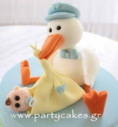 Stork Cake for a baby shower