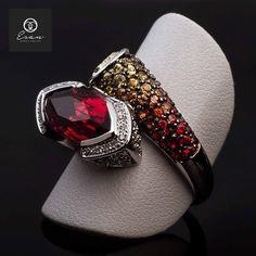 Inel cu pietre pretioase design unic Cufflinks, Accessories, Jewelry, Design, Fashion, Diamond, Moda, Jewlery, Jewerly