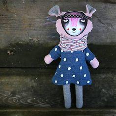 diEnes / bábika Filoména. recyklovaná- upcycled sewn soft doll, art doll, cloth doll