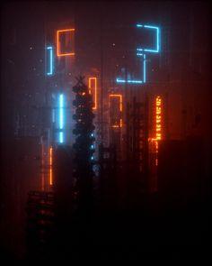 "the-outrun: ""Above the neon sky (Marc Molinaro Toronto, Canada) "" Cyberpunk 2077, Cyberpunk City, Arte Cyberpunk, Night Aesthetic, City Aesthetic, Neon Noir, Cyberpunk Aesthetic, Neon Wallpaper, Futuristic Art"