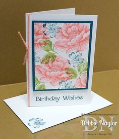 Stampin' Up! ... Unfrogettable Stamping | Video:  Quick & Easy Stippled Blossoms birthday card featuring two-step stamping with the Stamp-a-ma-jig tool  http://unfrogettablestamping.typepad.com/my_weblog/2014/09/video-quick-easy-stippled-blossoms-birthday-card-tutorial.html