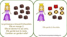 Des problèmes mathématiques en maternelle Math Gs, Montessori Math, Learn To Count, 2nd Grade Math, Mathematics, Literacy, Activities, Education, Comics