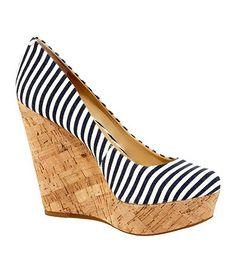 6b765448735 Gianni Bini Lizzie Nautical-Stripe Wedges Buy Shoes Online
