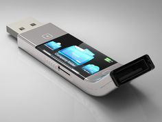 U Transfer USB stick, future gadget, future device, touchscreen display, technology
